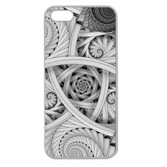 Fractal Wallpaper Black N White Chaos Apple Seamless Iphone 5 Case (clear)