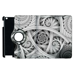 Fractal Wallpaper Black N White Chaos Apple Ipad 2 Flip 360 Case