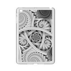 Fractal Wallpaper Black N White Chaos Ipad Mini 2 Enamel Coated Cases by Amaryn4rt