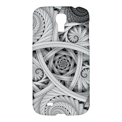 Fractal Wallpaper Black N White Chaos Samsung Galaxy S4 I9500/i9505 Hardshell Case by Amaryn4rt