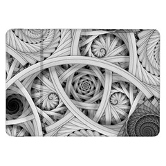 Fractal Wallpaper Black N White Chaos Samsung Galaxy Tab 8 9  P7300 Flip Case by Amaryn4rt