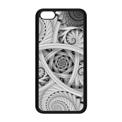Fractal Wallpaper Black N White Chaos Apple Iphone 5c Seamless Case (black)