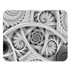 Fractal Wallpaper Black N White Chaos Double Sided Flano Blanket (large)