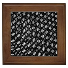 Abstract Of Metal Plate With Lines Framed Tiles by Amaryn4rt