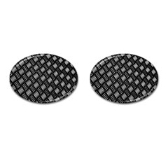 Abstract Of Metal Plate With Lines Cufflinks (oval)