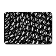 Abstract Of Metal Plate With Lines Small Doormat  by Amaryn4rt