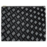 Abstract Of Metal Plate With Lines Cosmetic Bag (XXXL)  Front