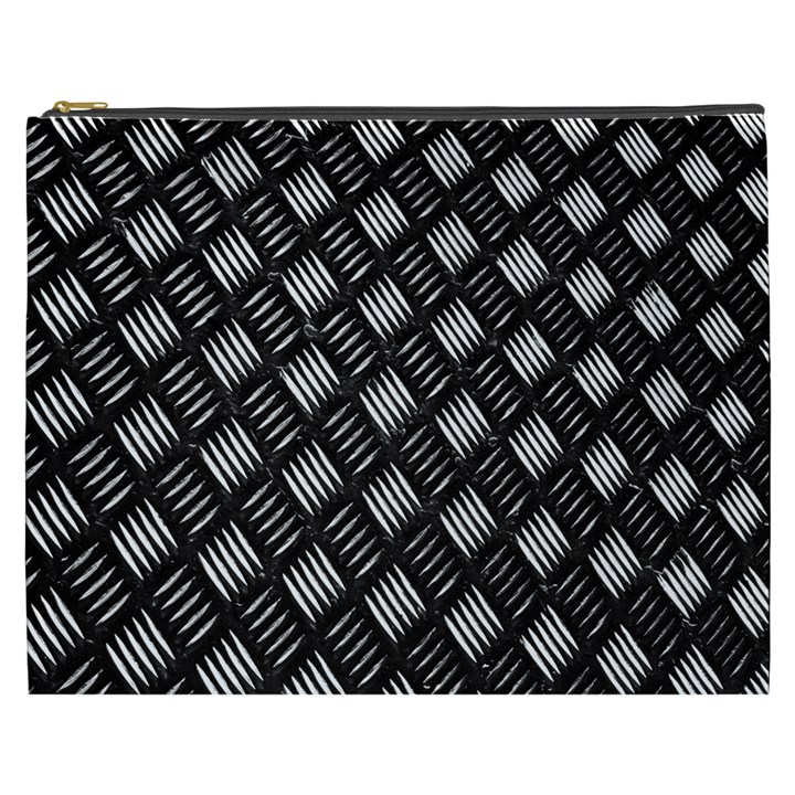 Abstract Of Metal Plate With Lines Cosmetic Bag (XXXL)