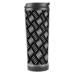 Abstract Of Metal Plate With Lines Travel Tumbler