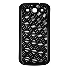 Abstract Of Metal Plate With Lines Samsung Galaxy S3 Back Case (black) by Amaryn4rt