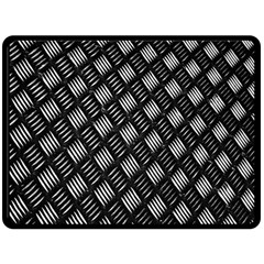 Abstract Of Metal Plate With Lines Double Sided Fleece Blanket (large)