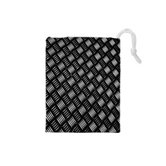 Abstract Of Metal Plate With Lines Drawstring Pouches (small)