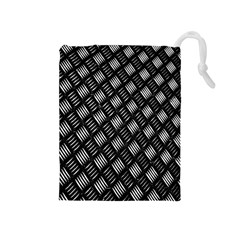 Abstract Of Metal Plate With Lines Drawstring Pouches (medium)