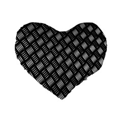 Abstract Of Metal Plate With Lines Standard 16  Premium Flano Heart Shape Cushions