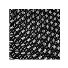 Abstract Of Metal Plate With Lines Small Satin Scarf (square)