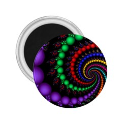 Fractal Background With High Quality Spiral Of Balls On Black 2 25  Magnets by Amaryn4rt