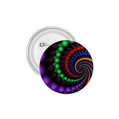 Fractal Background With High Quality Spiral Of Balls On Black 1 75  Buttons