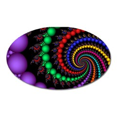 Fractal Background With High Quality Spiral Of Balls On Black Oval Magnet