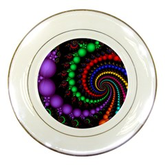 Fractal Background With High Quality Spiral Of Balls On Black Porcelain Plates by Amaryn4rt