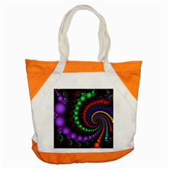 Fractal Background With High Quality Spiral Of Balls On Black Accent Tote Bag by Amaryn4rt