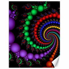 Fractal Background With High Quality Spiral Of Balls On Black Canvas 18  X 24