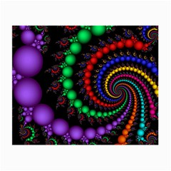Fractal Background With High Quality Spiral Of Balls On Black Small Glasses Cloth (2 Side)