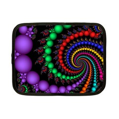 Fractal Background With High Quality Spiral Of Balls On Black Netbook Case (small)  by Amaryn4rt