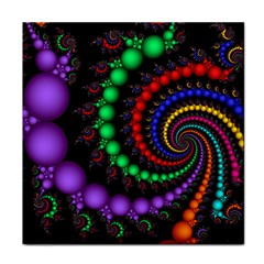 Fractal Background With High Quality Spiral Of Balls On Black Face Towel
