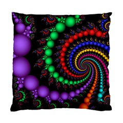 Fractal Background With High Quality Spiral Of Balls On Black Standard Cushion Case (one Side) by Amaryn4rt