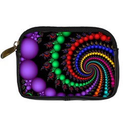 Fractal Background With High Quality Spiral Of Balls On Black Digital Camera Cases