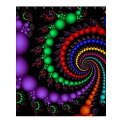 Fractal Background With High Quality Spiral Of Balls On Black Shower Curtain 60  X 72  (medium)
