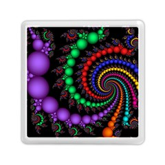 Fractal Background With High Quality Spiral Of Balls On Black Memory Card Reader (square)  by Amaryn4rt