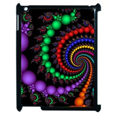 Fractal Background With High Quality Spiral Of Balls On Black Apple Ipad 2 Case (black)
