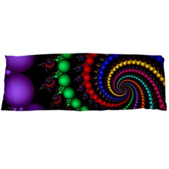 Fractal Background With High Quality Spiral Of Balls On Black Body Pillow Case Dakimakura (two Sides)