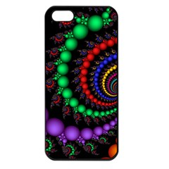 Fractal Background With High Quality Spiral Of Balls On Black Apple Iphone 5 Seamless Case (black) by Amaryn4rt
