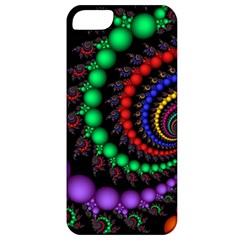 Fractal Background With High Quality Spiral Of Balls On Black Apple Iphone 5 Classic Hardshell Case by Amaryn4rt