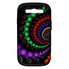Fractal Background With High Quality Spiral Of Balls On Black Samsung Galaxy S Iii Hardshell Case (pc+silicone)
