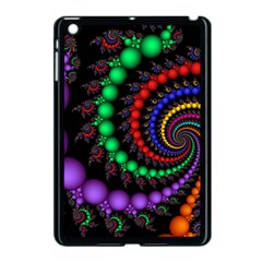 Fractal Background With High Quality Spiral Of Balls On Black Apple Ipad Mini Case (black)