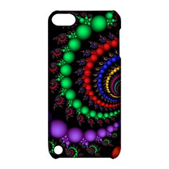 Fractal Background With High Quality Spiral Of Balls On Black Apple Ipod Touch 5 Hardshell Case With Stand