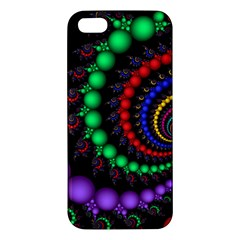 Fractal Background With High Quality Spiral Of Balls On Black Apple Iphone 5 Premium Hardshell Case