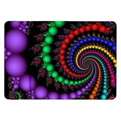 Fractal Background With High Quality Spiral Of Balls On Black Samsung Galaxy Tab 8 9  P7300 Flip Case
