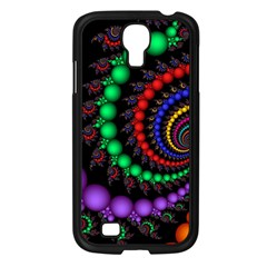 Fractal Background With High Quality Spiral Of Balls On Black Samsung Galaxy S4 I9500/ I9505 Case (black) by Amaryn4rt