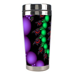 Fractal Background With High Quality Spiral Of Balls On Black Stainless Steel Travel Tumblers
