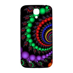 Fractal Background With High Quality Spiral Of Balls On Black Samsung Galaxy S4 I9500/i9505  Hardshell Back Case by Amaryn4rt