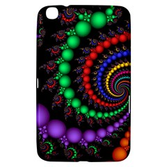 Fractal Background With High Quality Spiral Of Balls On Black Samsung Galaxy Tab 3 (8 ) T3100 Hardshell Case