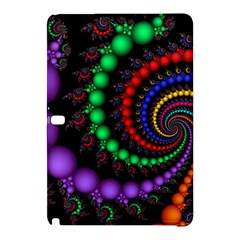 Fractal Background With High Quality Spiral Of Balls On Black Samsung Galaxy Tab Pro 10 1 Hardshell Case by Amaryn4rt