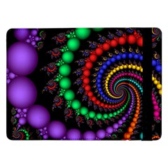 Fractal Background With High Quality Spiral Of Balls On Black Samsung Galaxy Tab Pro 12 2  Flip Case by Amaryn4rt