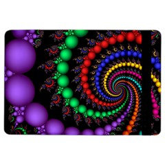 Fractal Background With High Quality Spiral Of Balls On Black Ipad Air 2 Flip by Amaryn4rt