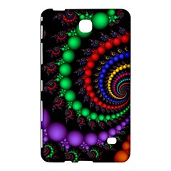 Fractal Background With High Quality Spiral Of Balls On Black Samsung Galaxy Tab 4 (7 ) Hardshell Case  by Amaryn4rt