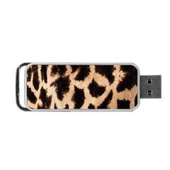 Yellow And Brown Spots On Giraffe Skin Texture Portable Usb Flash (two Sides) by Amaryn4rt